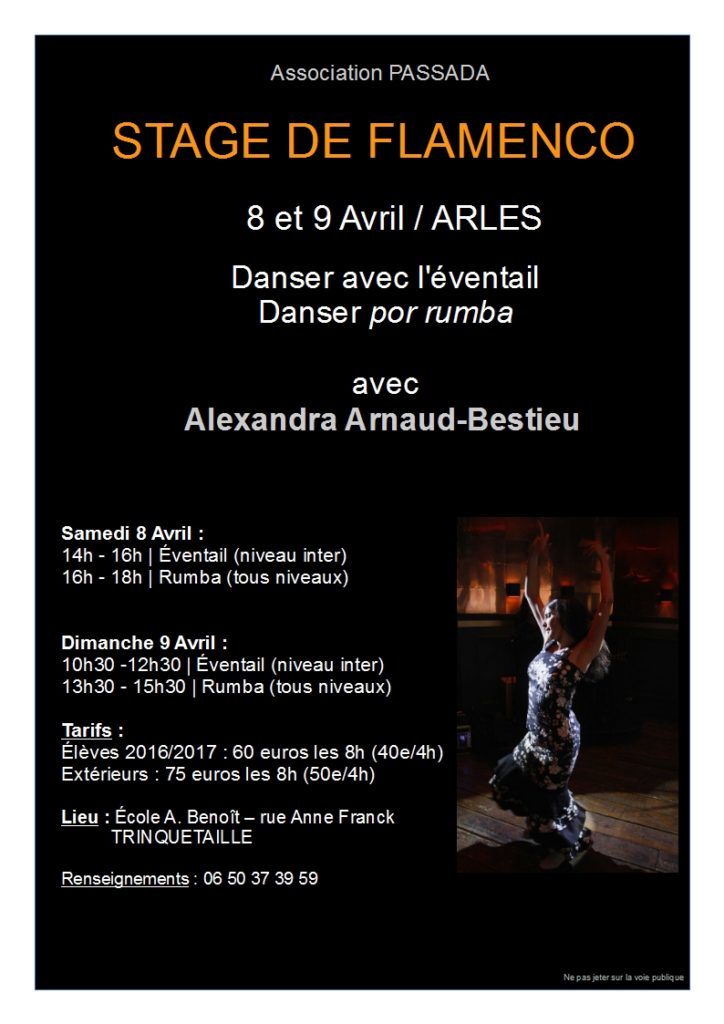 Stage avril de Rumba en Arles 2017
